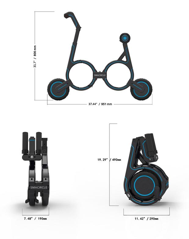 Smacircle S1, la bicicleta eléctrica plegable más pequeña 1
