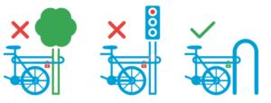 aparcamiento de la bicicleta