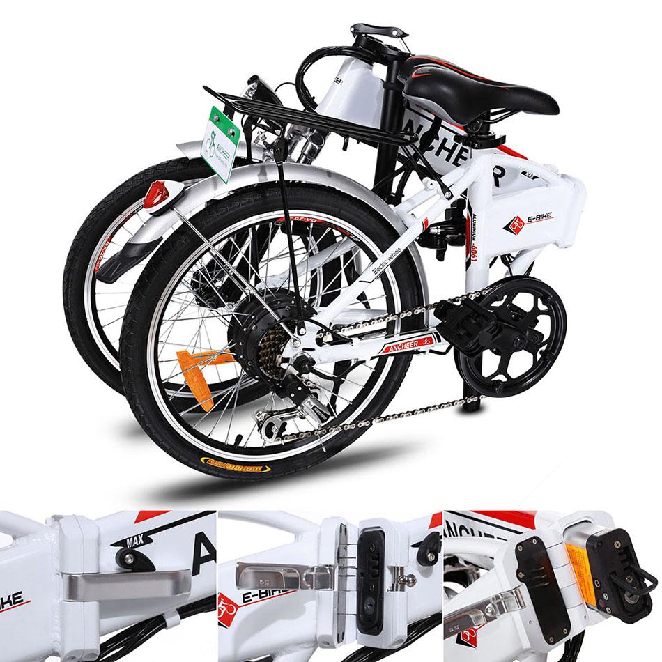La Bicicleta Eléctrica Ancheer plegable 2