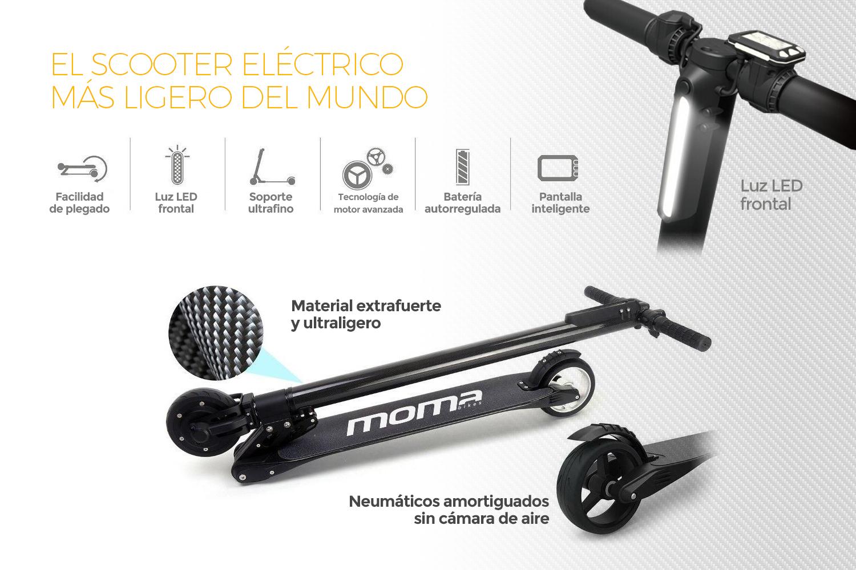 1c337ac3f Éste es el patinete eléctrico de Moma Bikes de 250W
